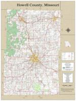 Howell County Missouri 2020 Wall Map