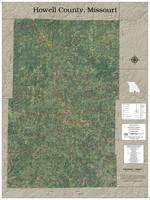 Howell County Missouri 2020 Aerial Wall Map