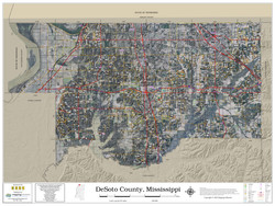 DeSoto County Mississippi 2020 Aerial Wall Map