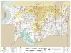 DeSoto County Mississippi 2020 Wall Map