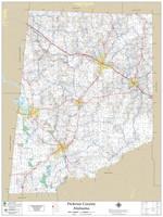 Pickens County Alabama 2020 Wall Map