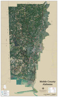 Mobile County Alabama 2020 Aerial Wall Map