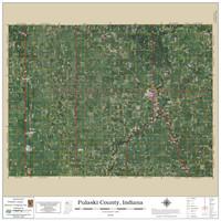 Pulaski County Indiana 2020 Aerial Wall Map