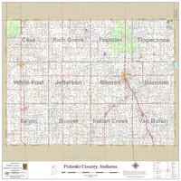 Pulaski County Indiana 2020 Wall Map