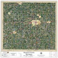 Branch County Michigan 2020 Aerial Wall Map