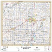 Branch County Michigan 2020 Wall Map