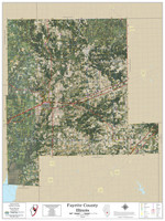 Fayette County Illinois 2020 Aerial Wall Map