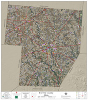 Fayette County Ohio 2020 Aerial Wall Map