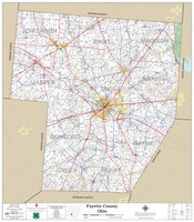 Fayette County Ohio 2020 Wall Map