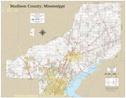 Madison County Mississippi 2020 Wall Map