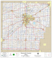 Hancock County Ohio 2020 Wall Map