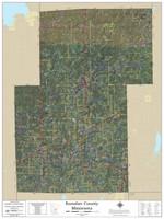 Kanabec County Minnesota 2020 Aerial Wall Map