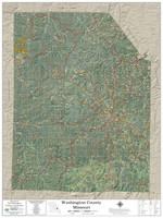 Washington County Missouri 2020 Aerial Wall Map