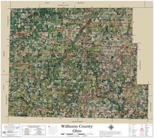 Williams County Ohio 2021 Aerial Wall Map