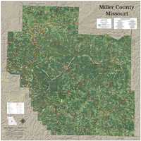 Miller County Missouri 2020 Aerial Wall Map