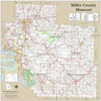 Miller County Missouri 2020 Wall Map