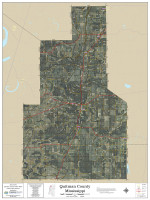 Quitman County Mississippi 2020 Aerial Wall Map