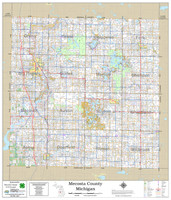 Mecosta County Michigan 2021 Wall Map