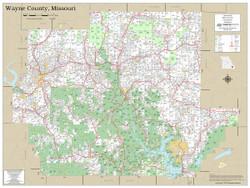 Wayne County Missouri 2020 Wall Map