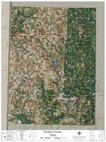 Preble County Ohio 2021 Aerial Wall Map