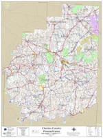 Clarion County Pennsylvania 2021 Wall Map