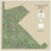 St. Francois County Missouri 2020 Aerial Wall Map