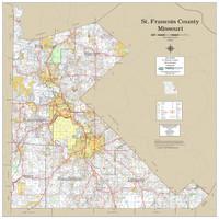 St. Francois County Missouri 2020 Wall Map