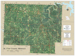 St. Clair County Missouri 2021 Aerial Wall Map