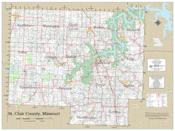 St. Clair County Missouri 2021 Wall Map
