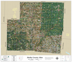 Shelby County Ohio 2021 Aerial Wall Map