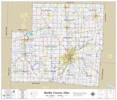 Shelby County Ohio 2021 Wall Map
