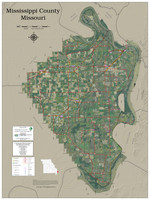 Mississippi County Missouri 2021 Aerial Wall Map