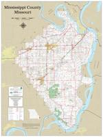 Mississippi County Missouri 2021 Wall Map
