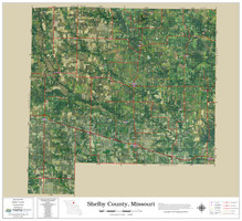 Shelby County Missouri 2021 Aerial Wall Map