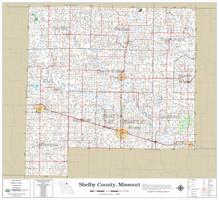 Shelby County Missouri 2021 Wall Map