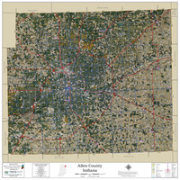 Allen County Indiana 2021 Aerial Wall Map