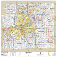 Allen County Indiana 2021 Wall Map