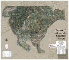 Pulaski-Alexander Counties Illinois 2020 Aerial Map