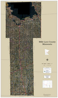 Mille Lacs County Minnesota 2020 Aerial Wall Map
