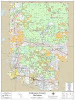 Dickinson County Michigan 2021 Wall Map