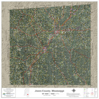 Jones County Mississippi 2021 Aerial Wall Map