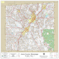 Jones County Mississippi 2021 Wall Map