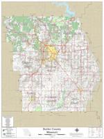 Butler County Missouri 2021 Wall Map