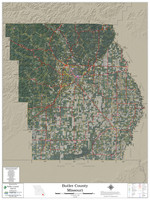 Butler County Missouri 2021 Aerial Wall Map