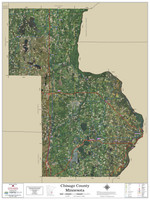 Chisago County Minnesota 2021 Aerial Wall Map