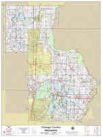Chisago County Minnesota 2021 Wall Map