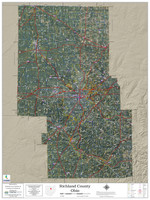 Richland County Ohio 2021 Aerial Wall Map