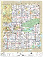 Portage County Ohio 2021 Wall Map
