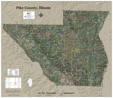 Pike County Illinois 2021 Aerial Wall Map