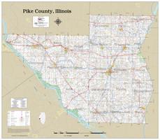 Pike County Illinois 2021 Wall Map